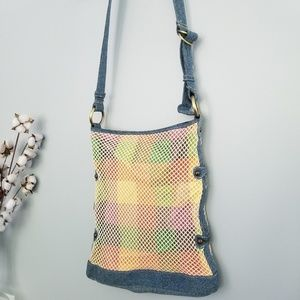 {Vintage}Tommy Hilfiger Colorful Net Crossbody Bag